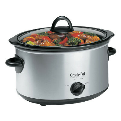 Crock-Pot Manual Slow Cooker, Stainless SCV400SS-CN