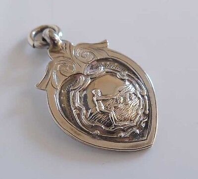 Antique Solid Silver Sports (Diving/swimming) Fob Medal - Chester 1932