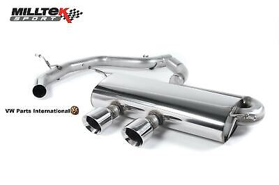 VW GOLF MK5 GTI 2.0 MILLTEK R32 Style Cat Back Exhaust Non Res Polished GT100...