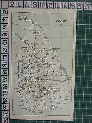1926 India Indian Tourist Map ~ Ceylon Badulla Kandy Anuradhapura