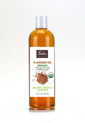 32 Oz High Quality Pure Organic Flaxseed Oil Cold Pressed Unrefined