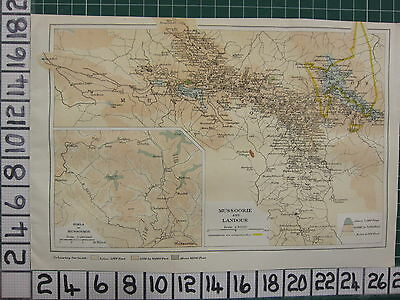 1926 India Indian Tourist Map ~ Mussoorie & Landour Simila Cantonments