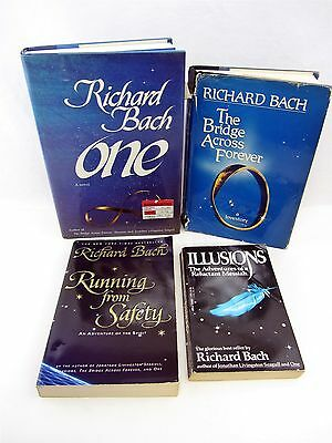 4 Lot RICHARD BACH - Illusions, Bridge Across Forever, ONE, Running From Safety