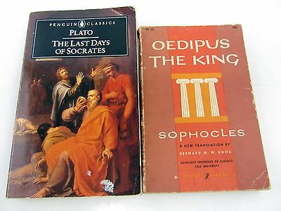 2 Lot Plato The Last Days of Socrates 1987 & Oedipus The King by Sophocles 1959