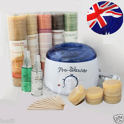 Wax Kit with Wax Heater Spatulas Wax Pot Hair Removal Free Pre-Post Treatment