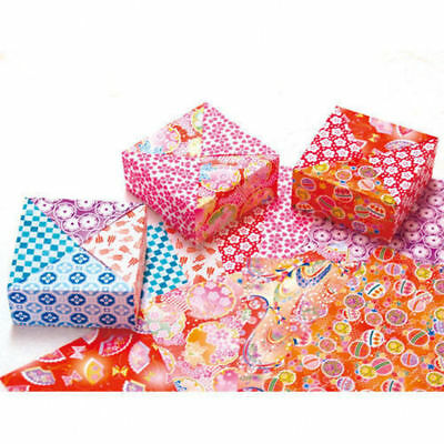 JAPANESE ORIGAMI PAPER - CHIYOGAMI 100 pieces 10 Designs 15x15cm Made in Japan.