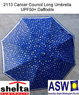 UPF50+ CANCER COUNCIL Shelta Long Umbrella Rain Sun Auto Open 2113
