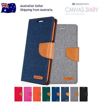 Samsung Galaxy S7 S7 edge PU Leather Wallet Case Mercury Hard Canvas Flip Cover