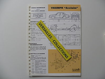 Fiche technique automobile carrosserie TRIUMPH Acclaim