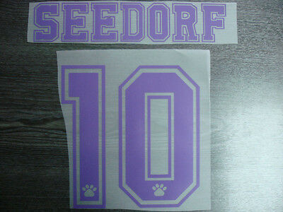 RARE! SEEDORF #10 Real Madrid Home UCL 1997-99 Name Numbering
