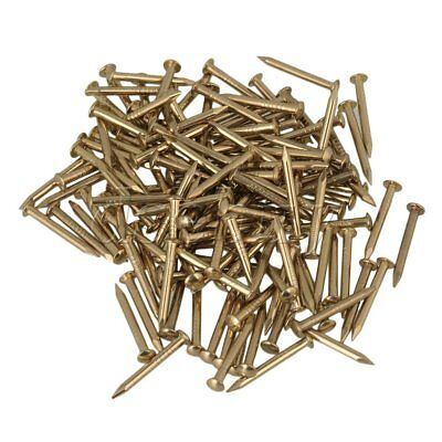15mm Round Head Antique Furniture Pure Copper  Miniature Nail Pack of 100