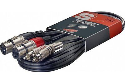 Stagg Stc3cmxf 3M S Series Twin Rca Male To Twin Xlr Female Cable Musical Instr