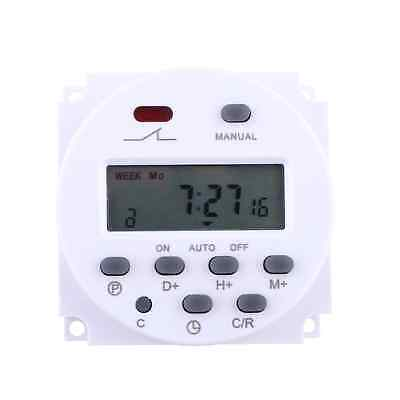 New 12 Volt 16 Amp LCD Display Power Programmable Timer Switch for Light Fans #