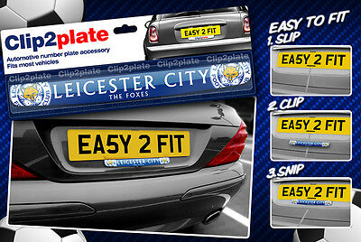 Clip2plate Leicester City (LCFC) Car Number Plate Badge official merchandise
