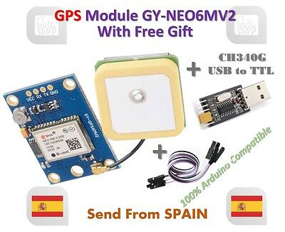 GY-NEO6MV2 NEO-6M GPS Module NEO6MV2 Flight Control EEPROM with USB to TTL Gift