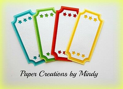 Craftecafe Mindy Disney carnival tickets Title premade paper piecing scrapbook