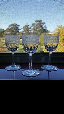 Vintage Etched Port/Sherry Glasses