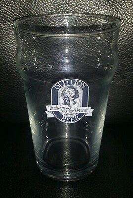 Rare Collectable Old Lion Beer 285Ml Beer Glass Brand New Never Used