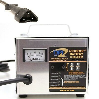 48 Volt 17 amp golf cart battery charger -DPI EZ-Go RXV Connector Made in USA