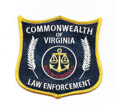 """The Walking Dead Commonwealth of Virginia Law Enforcement Embroidered Patch 4"""""""