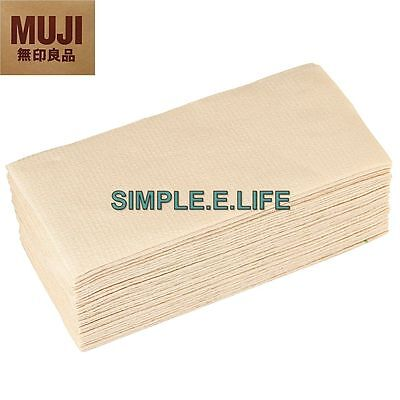 Muji Unbleached Paper Towels 75 Double Layered Sheets Made In Japan W/ Tracking