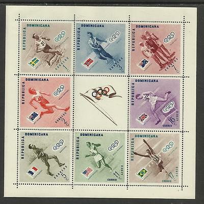 DOMINICAN REP 1956 MELBOURNE OLYMPIC GAMES S/Sheet GOLD MEDAL WINNERS Perf MNH