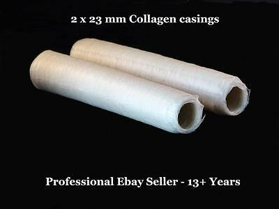 Total Best Quality DEVRO - Collagen - Two x 23 mm Sausage Casings & FREE E- Gift