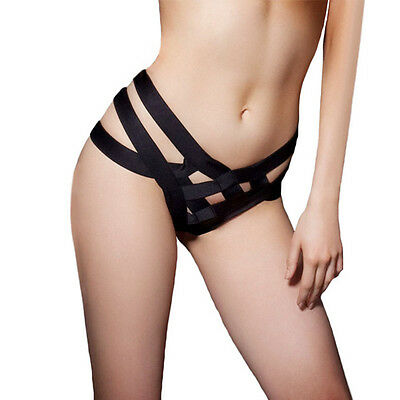 1PC Black Sexy Cage Bandage Brief Women Thong Underwear Panties Female Lingerie
