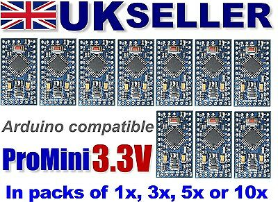 Arduino 3.3v Pro mini compatible boards Multipacks NEW & TESTED UK STOCK
