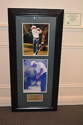 Signed GREG NORMAN 'The Great White Shark' Framed Photos + COA **SAME DAY POST