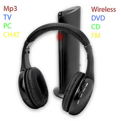 Cuffia Cuffie Wireless Wi Fi Senza Fili 5 In 1 Con Microfono Radio Pc Tv  Chat 6c02f22f426b