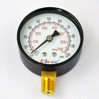 Auto Fuel Injection Pressure Tester Gauge Pump Test Tool 100psi