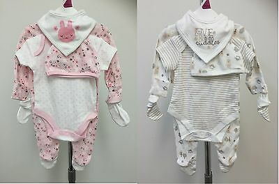 Exstore Baby Girls Boys Cotton 8 Piece Baby Gift Set Outfit TB NB 0-3 3-6 Month