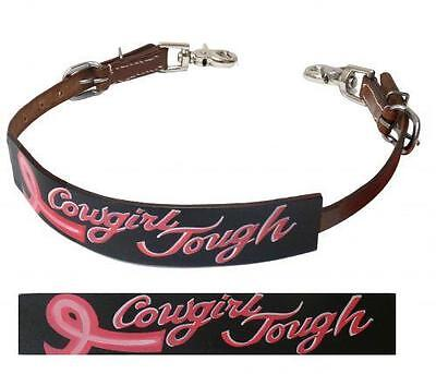 """Showman Wither Strap with HOPE RIBBON """"COWGIRL TOUGH"""" BREAST CANCER AWARENESS!"""