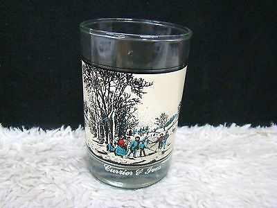 """1981 Currier & Ives Arby's Winter Pastime 4.5"""" Collector Series Glass, Decor"""