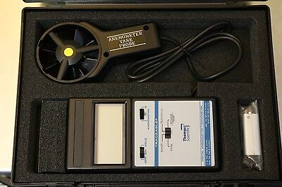 New Thomas Scientific Traceable Digital Vane Probe Anemometer Thermometer