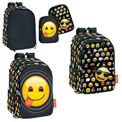 EMOJI - 2in1 Designs Large Backpack with 2 Interchangeable Pockets (6471)