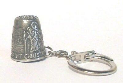 Unique Saint Christopher Thimble Gift For Traveller Collectible Thimble NEW