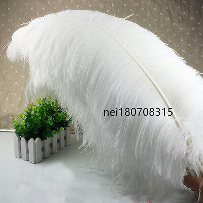 Wholesale/10-100pcs High Quality Natural WHITE OSTRICH FEATHERS 6-24inch/15-60cm