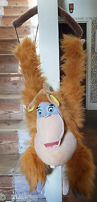 RARE Disney Jungle Book King Louie banana hanging soft plush toy figure monkey