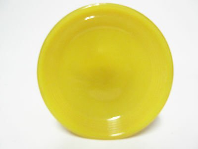 Akro Agate Child's Small Stacked Disc Opaque Yellow Saucer / 20 Available