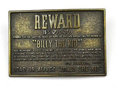 Vintage Billy The Kid USA Gürtelschnalle Belt Buckle - Motiv Reward $ 5,000