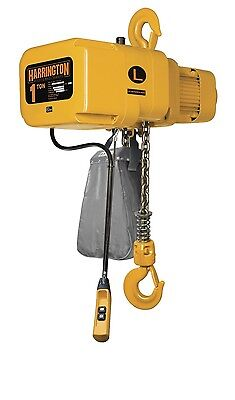 Harrington NER 1 Ton Electric Chain Hoist 3 Phase 208/230/460v 10' Lift 2.4 HP