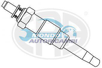 CANDELETTA ACCENSIONE PEUGEOT 305 I Break 1.5 Diesel 36KW 49CV 08/1980 09/82