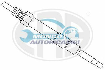 CANDELETTA ACCENSIONE FIAT MAREA Weekend 1.9 JTD 105 77KW 105CV 04/1999>05/02
