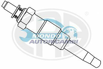 CANDELETTA ACCENSIONE OPEL ASTRA G Coupe 1.7 D 42KW 57CV 12/1991 09/92 ZD3 UX9A