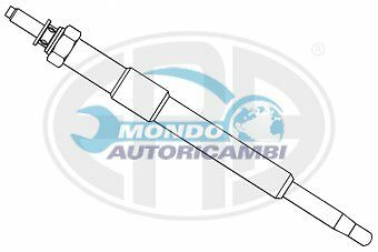CANDELETTA ACCENSIONE FORD C-MAX 2.0 TDCi 100KW 136CV 02/2007  UC41A HDS406