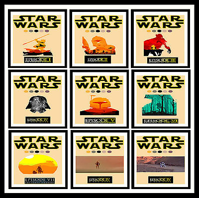 STAR WARS Action Movie Minimal Posters Vintage Wall Art Print * A3 /A4 Size #21