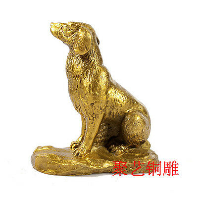 Chinese copper Zodiac Dog Year Animal Wealth Statue