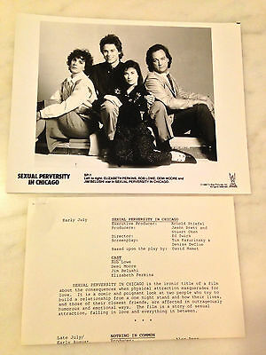 ABOUT LAST NIGHT... (1986) Press Kit Photo & Sheet; SEXUAL PERVERSITY IN CHICAGO